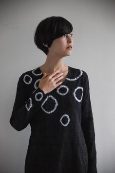 Tunic Made of Tie-dye Cotton