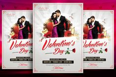 Valentines Flyer Template by Briell Design on Creative Market