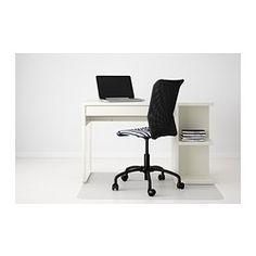 MICKE Työpöytä, jossa säilytystilaa - valkoinen - IKEA