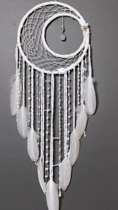 """Image search result for """"moon dream catchers"""" . - Image Search Result For """"moon dream catchers"""" Image s - Grand Dream Catcher, Dream Catcher Decor, Beautiful Dream Catchers, Large Dream Catcher, Dream Catcher Bedroom, Making Dream Catchers, Moon Dreamcatcher, Crochet Dreamcatcher, Dreamcatchers"""
