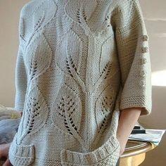Suéter con mangas 3/4 y destellos