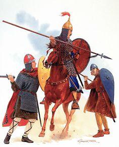 • German knight, 11th century  • Polish heavy cavalryman, 11th century  • Bohemian foot soldier, 11th century