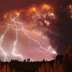 A lightning storm over the Puyehue-Cordón Caulle range a day after the volcano, which had lain dormant for half a century  - Francisco Negroni photograph