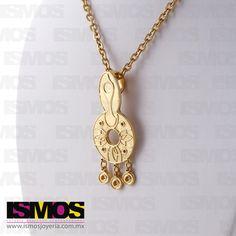 ISMOS Joyería: colgante dorado // ISMOS Jewelry: golden pendant