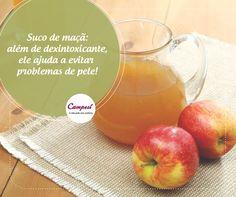 A maçã é uma fruta rica em vitaminas B1, B2 e claro, é deliciosa! E a melhor alimentação que você pode ter é a saudável & gostosa. E aí, vai apostar nesse suco?