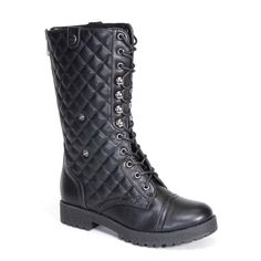 ❗️TODAY ONLY❗️NWOT Quilted combat boots Closure, a faux wooden platform/heel, faux shearling lining, a slightly padded insole for comfort, an approximate 10 inch shaft that can be folded down, button down snaps, an approximate 0.75 inch lug sole platform for extra comfort, and an approximate 1.25 inch lug sole block heel. (Please note that these measurements are based on a size 6). All man made materials. Shoes Combat & Moto Boots