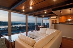 Capitol Hill Vacation Rental - VRBO 393757 - 3 BR Seattle Apartment in WA, Penthouse 2-3 Bedrooms, 2 Bath Overlooking Lake , Olympics & Downtown