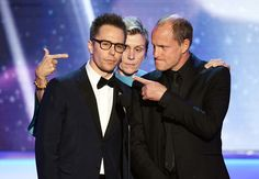Frances McDormand Photos - (L-R) Actors Sam Rockwell, Frances McDormand, and Woody Harrelson speak onstage during the 24th Annual Screen Actors Guild Awards at The Shrine Auditorium on January 21, 2018 in Los Angeles, California. 27522_013 - 24th Annual Screen Actors Guild Awards - Show
