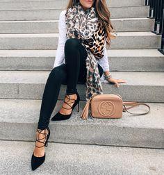 Leopard scarf, faux