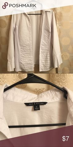 White shirt worn 2x White Zach and Rachael blouse with stretch on sides Zach and rachael Tops Button Down Shirts