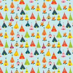 Powwow Camp fabric by the_printed_bolt on Spoonflower - custom fabric