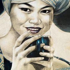 """... Le vernissage de mon expo parisienne. Elle y sera présente... """"Pause thé chez les Miao"""" - 80x100 cm Je ne l'ai pas rencont..."""