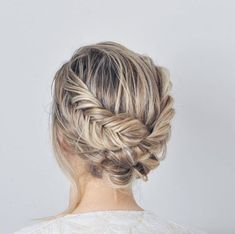double fishtail braided updo