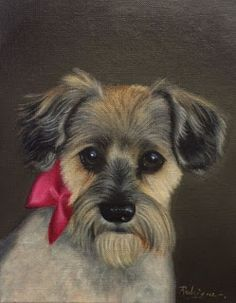 Carole Rodrigue Fine Artist Specializing in Pet Portraits and Still Life: Commissioned Dog Painting in Oil #petportrait