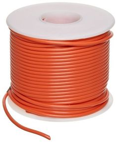 """GPT Automotive Copper Wire, Orange, 16 AWG, 0.0508"""" Diameter, 100' Length (Pack of 1) by Small Parts. $26.20. GPT general purpose automotive orange color wire temp range -40 to 105 C"""