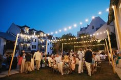 Rosemary beach outdoor wedding  ||  Florals by the Sea flowers and decor