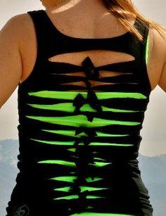 #DIY t-shirt cutting  #Fashion #Nice #Beauty #T-Shirts www.2dayslook.com