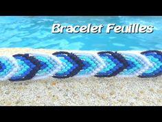 Tuto : Bracelet Brésilien motif feuille facile (débutants) - YouTube