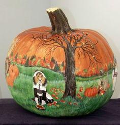Pilgrim Painted Pumpkin