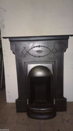 original edwardian cast iron combination fireplace.READY TO FIT