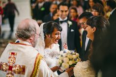 Congrats to Sabrina and Nick. Sabrina wore Pronovias. Photography by Viva La weddings.