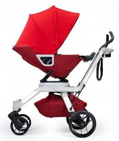 """Orbit Baby Stroller G2 - Ruby - Eco-friendly, stylish, modern, built in cup holder, """"Paparazzi shield,"""" the perfect stroller for infants and tots from birth up to 40 lbs!"""