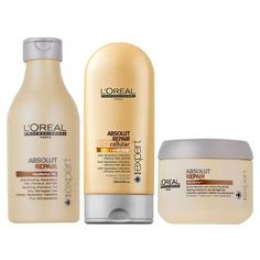 L'Oreal Professional Absolut Repair range with lactic acid. I've been using it for a month now and my hair has never been in a better condition. I bleach my long hair into infinity - and it stayed soft and shiny the whole month through, even on the ends. I'm never going to stop using it.