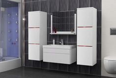 Modern Vanity 5 Modern Vanity, Modern Bathroom, Table Extensible, Bathroom Furniture, Decoration, Different Colors, Locker Storage, Lights, Composition