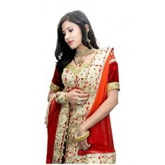 Layered Red Bridal Lehenga