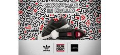"""We recently told you about the special holiday collaborative sneaker by adidas Originals, which is inspired by and celebrates Run-DMC's 1987 single """"Christmas in Hollis"""" and the cover of the song's album, A Very Special Christmas, which was created by"""