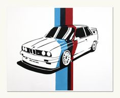 Classic Car Print - BMW E30 M3 (M Colors). $40.00, via Etsy. (Seth - xmas, shhh)