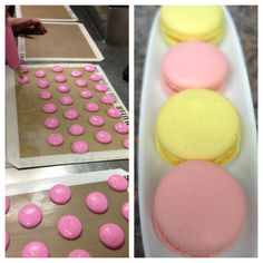 Lemon and Raspberry Macaroons we made for Boston Bakes For Breast Cancer!