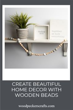 Décor Done Your Way-Are you a rustic or DIY décor lover? Unfinished wooded beads are just the thing for making a bead garland or an any-time– and–every–time holiday or seasonal wreath for door, mantel or wall.Do you take your crafting seriously? Our wooden beads are just the thing for seriously cool wood bead chandelier or macramé crafts. Wooden Crafts, Wooden Diy, Holiday Gift Guide, Holiday Gifts, Wood Bead Chandelier, Woodpeckers, Plywood Sheets, Wood Cutouts, All Holidays
