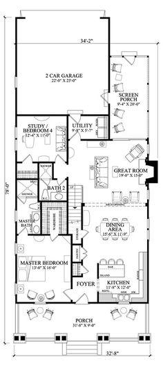 Coastal Home Plans - Maidstone Cottage