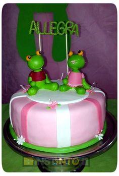 Torta de cumpleaños Sapo Pepe
