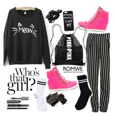 """""""MEOW~"""" by isha-saxena ❤ liked on Polyvore featuring Glamorous, Urbanears, Bobbi Brown Cosmetics and Pieces"""
