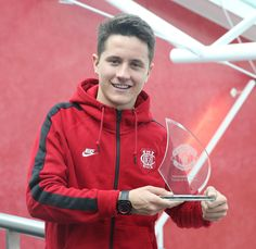 Ander Herrera is United's Player of the Month for April. 1.5.15