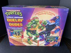 1991 Duelin Dudes Rock Em Sock Em Robots Playset w/ 1992 Receipt Ninja Turtle Toys, Ninja Turtles, Neca Figures, Teenage Mutant Ninja, Tmnt, Knock Knock, Robots, Sock, Presents