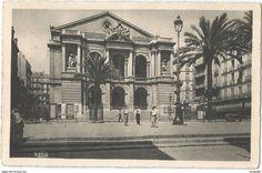Toulon Le Théatre Municipal (1939) - Toulon Alphonse Mucha, Corsica, Taj Mahal, France, Painting, Travel, Collection, Antique Post Cards, Antique Pictures