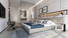 Contemporary bedroom by Ando Studio