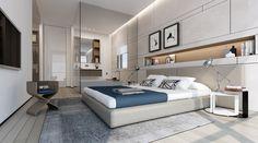 Contemporary bedroom by Ando Studio