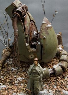 awesome realistic diorama. Made with UCHG 1/35 Zaku Head kit. The details of this diorama is fantastic in terms of realistic effect. The rus...