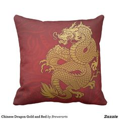Chinese Dragon Gold and Red