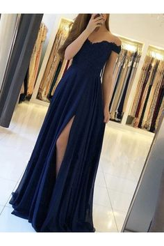 Chiffon Lace Off-the-Shoulder Long Prom Dresses Formal Evening Dresses 601192 Source by dress formal Cute Prom Dresses, Grad Dresses, Pretty Dresses, Homecoming Dresses, Sexy Dresses, Beautiful Dresses, Chiffon Dresses, Long Dresses, Elegant Dresses