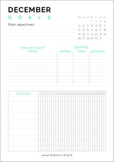 What do you want to achieve in December? Get your Free Printable December Goals Planner and achieve anything this month. Minimal and simple Printable Planner. Main goals, ideas to try and a tracker, all you need.