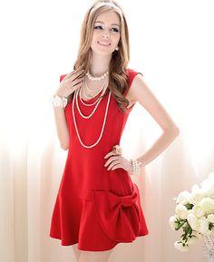 Side bow dress