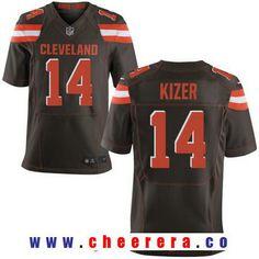 Men's 2017 NFL Draft Cleveland Browns #14 DeShone Kizer Brown Team Color Stitched NFL Nike Elite Jersey