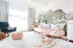 Accent Wall Ideas Pink Living Room