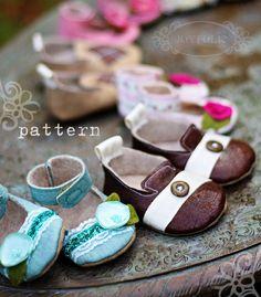 Joyfolie Boy and Girl Baby Shoe / Bootie Pattern PDF. $9.99, via Etsy. buy this!