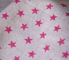 Glitter Stars fabric by Sevenberry (Pink) | The Makery